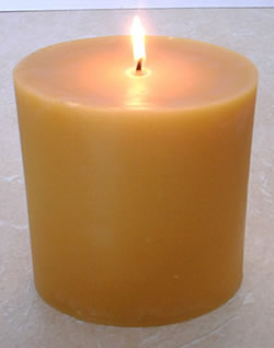beeswax oval pillar candle