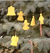 beeswax christmas tree decorations
