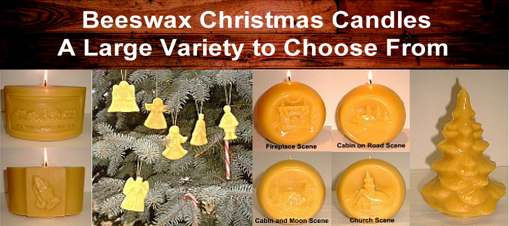 Beeswax Christmas Candles