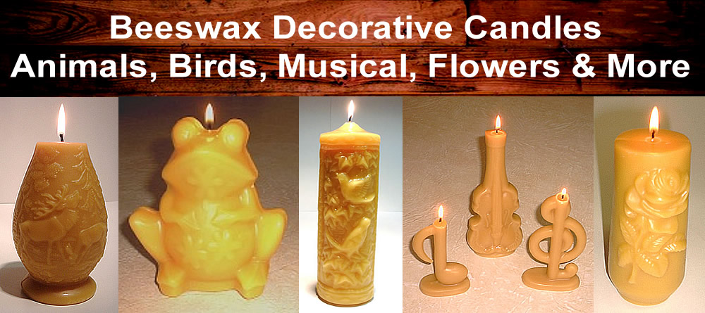 Beeswax Decorative Pillars
