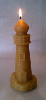 medium beeswax lighthouse Candle