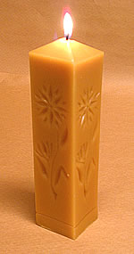 beeswax square-decorative pillar candle