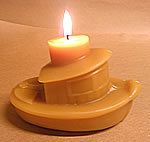 Beeswax Tugboat Figurine Candle