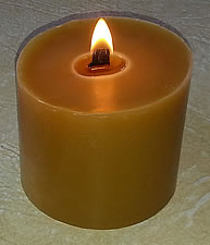 beeswax wooden wick pillar candle