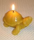 Beeswax Tortoise candle