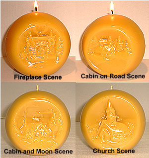 Beeswax Christmas Large Ball Scene Candles