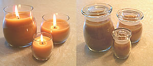 beeswax glass apothecary candles