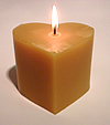 beeswax heart pillar candle
