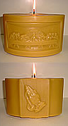 Large Beeswax Lords Supper Pillar Candle