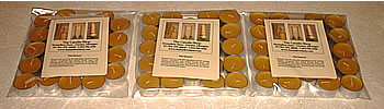 Bulk packs of beeswax tealite candles