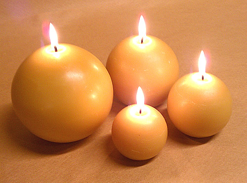 Beeswax Ball Candles | 4 Sizes + an Egg! - The Beeswax Candle Shop