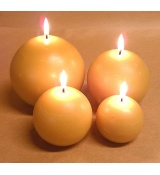beeswax ball candles