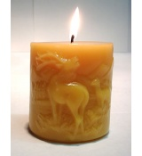 Beeswax Decorative Pillars Candles